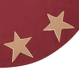 Rustic Star Tree Skirt - Retro Barn Country Linens - 2