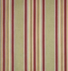 Sage and Coral Stripe Bedskirt