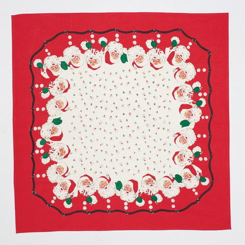 Santa Calls Retro Tablecloth - Retro Barn Country Linens - 1