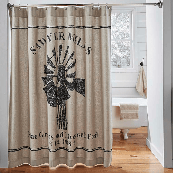 Farmhouse Shower Curtain Country Style