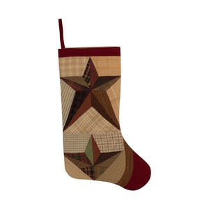 Scrappy Star Quilted Stocking