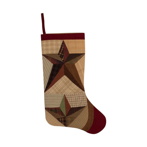 Scrappy Star Stocking by Retro Barn