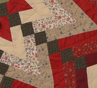 Starburst Quilted Tree Skirt - Retro Barn Country Linens - 2