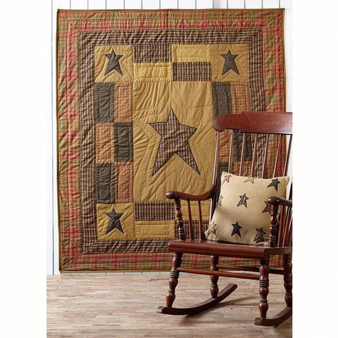 Stratton Quilted Throw / Wallhanging - Retro Barn Country Linens - 2