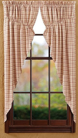 Tacoma Prairie Curtain - Retro Barn Country Linens - 1