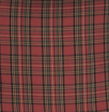 Tartan Red Plaid Valance