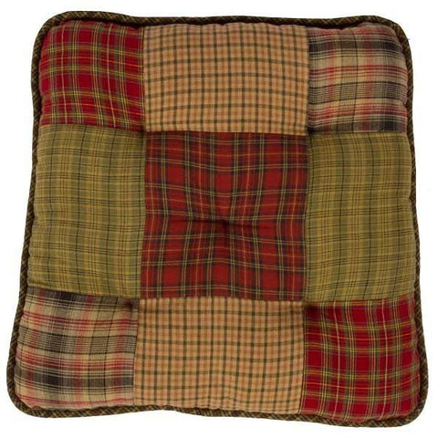 Tea Cabin Patchwork Chair Pad - Retro Barn Country Linens