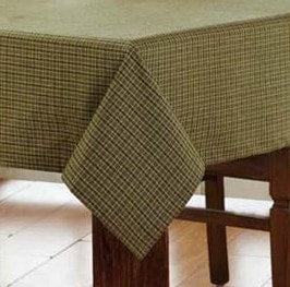 Tea Cabin Square Tablecloth - Retro Barn Country Linens - 1