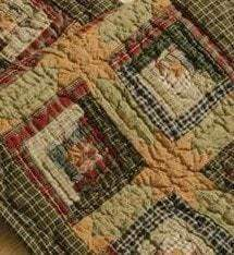 Tea Cabin Quilted Runner Retro Barn Country Linens