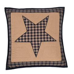 Teton Star Quilted Pillow - Retro Barn Country Linens - 1