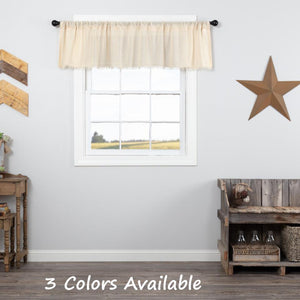 Tobacco Cloth Rustic Sheer Valance 72""