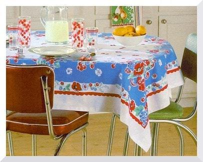 Very Berry Tablecloth - Retro Barn Country Linens - 1