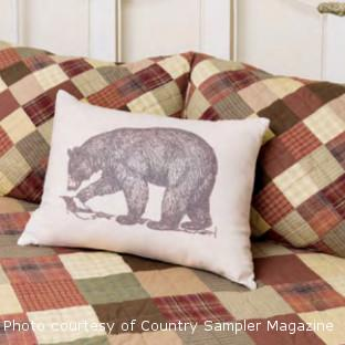 Walking Bear Pillow