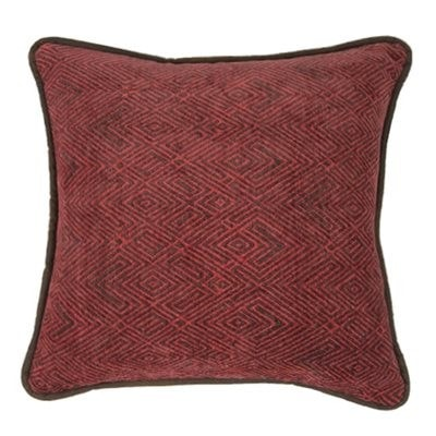Wilderness Ridge Red Chenille Square Pillow