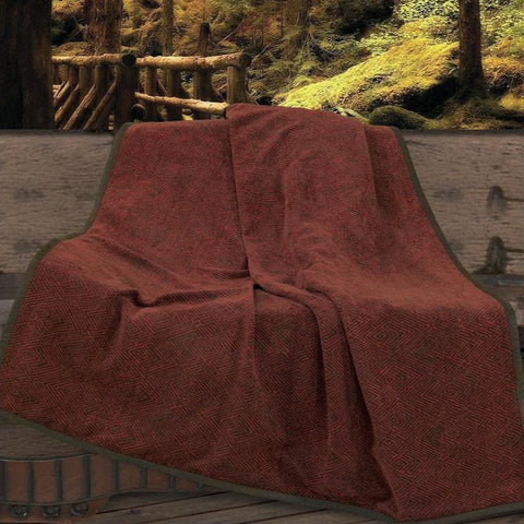 Wilderness Ridge Chenille Throw - Retro Barn Country Linens - 1