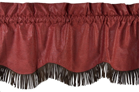 Cheyenne Red Valance - Retro Barn Country Linens - 1