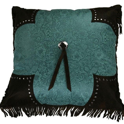 Cheyenne Turquoise Concho Pillow - Retro Barn Country Linens