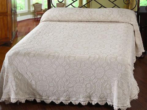 Colonial Rose Bedspread - Retro Barn Country Linens - 1