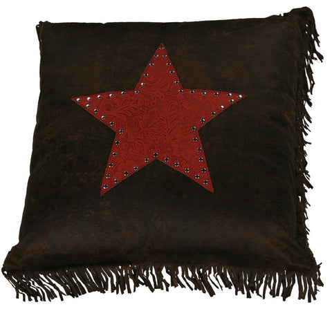 Cheyenne Red Star Toss Pillow - Retro Barn Country Linens