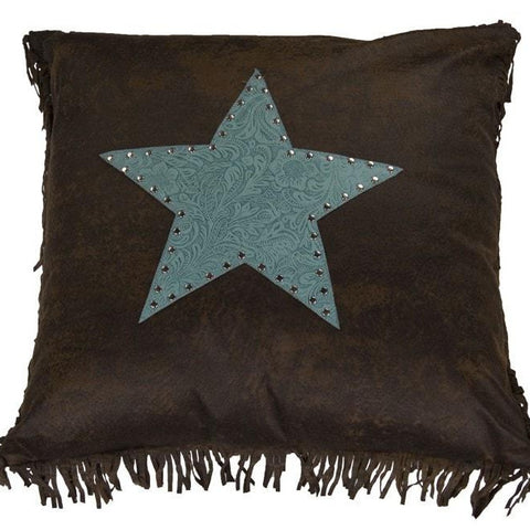 Cheyenne Turquoise Star Pillow - Retro Barn Country Linens