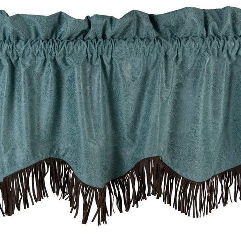 Cheyenne Turquoise Valance - Retro Barn Country Linens - 1