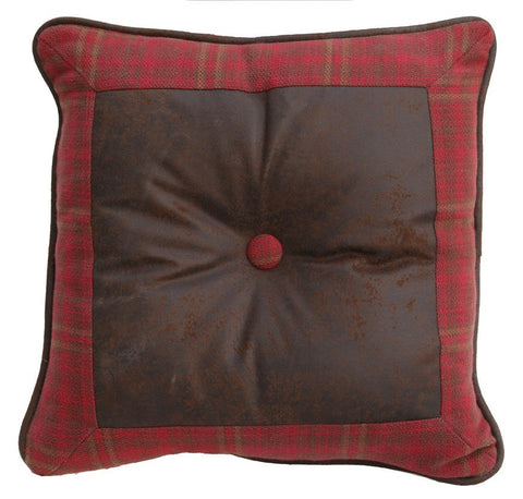 Cascade Lodge Square Plaid Pillow - Retro Barn Country Linens
