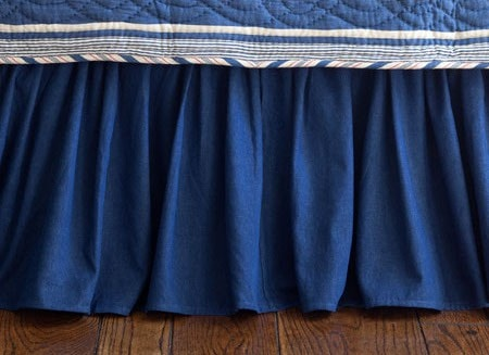 Denim Crib Skirt - Retro Barn Country Linens