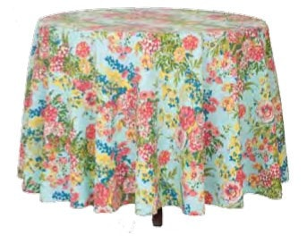 Zinnia Garden Tablecloth - Retro Barn Country Linens - 3