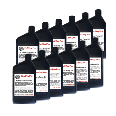 BullDogPro Hydraulic Pump Oil (1 case, 12 quarts)