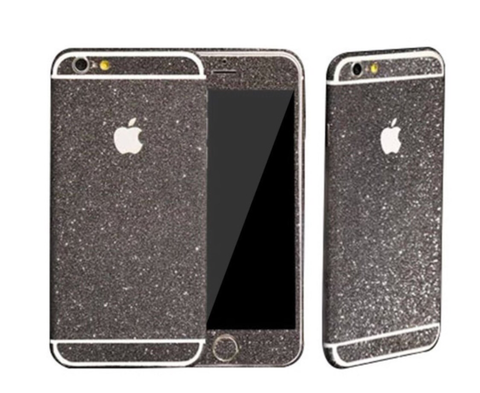 Black Glitter Decal Phone Protector