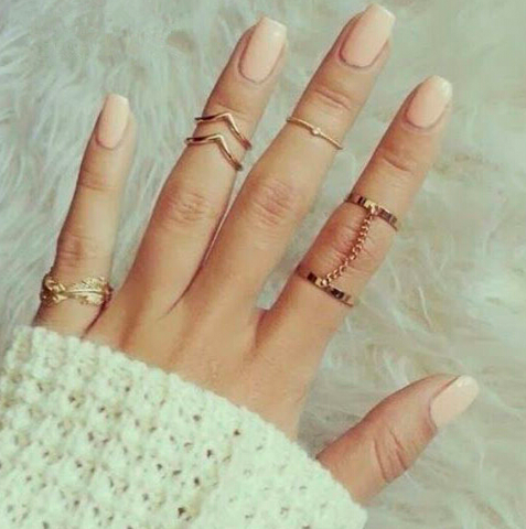 5 Piece Midi Ring Set
