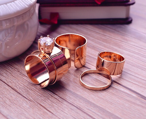 4 Piece Ring Set