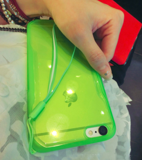 Lime Green Basic Clear Case