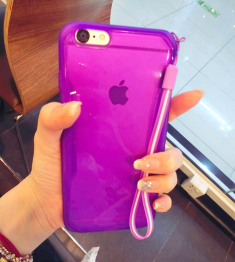 Purple Basic Clear Case