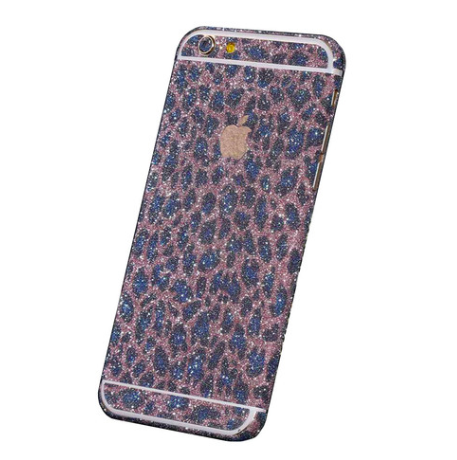 Leopard Glitter Decal Phone Protector