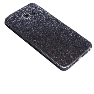 Black Glitter Decal Phone Protector for Samsung