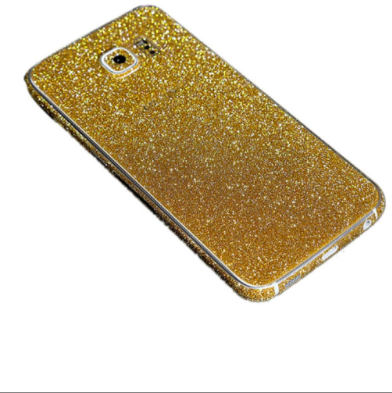 Gold Glitter Decal Phone Protector for Samsung