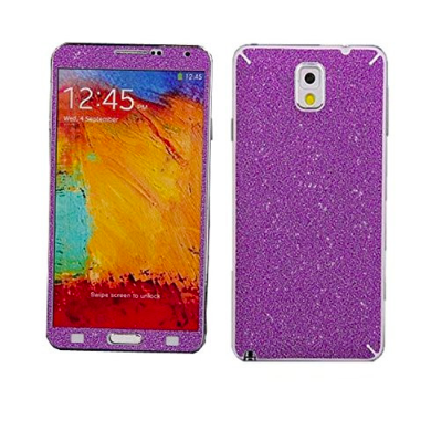 Purple Glitter Decal Phone Protector for Samsung