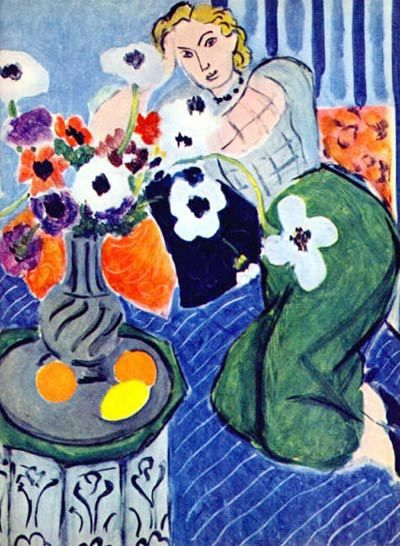 Henri Matisse, Odalisque with Anemones