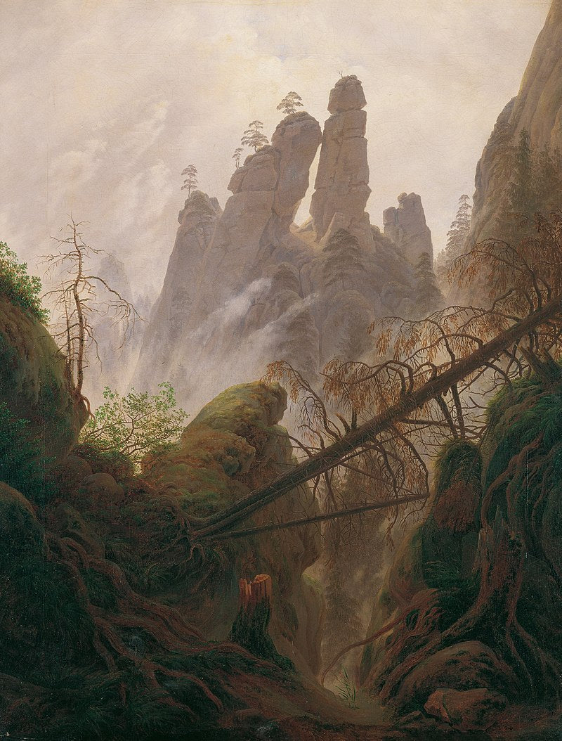 Caspar David Friedrich, Rocky Landscape in the Elbe Sandstone Mountains