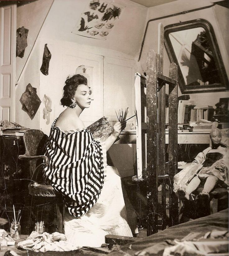 Leonor Fini in her studio