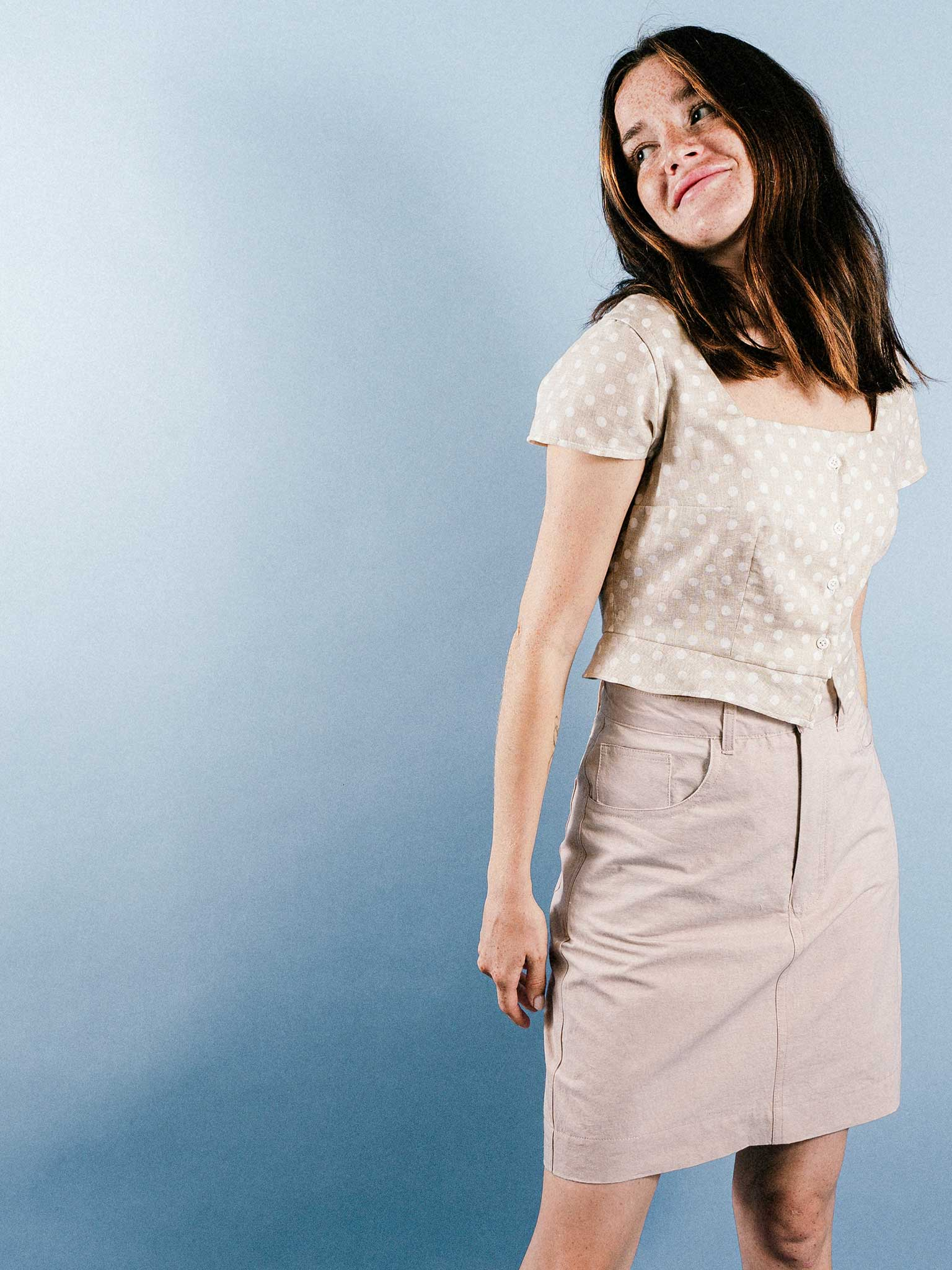 Becky Skirt in Dusty Blush