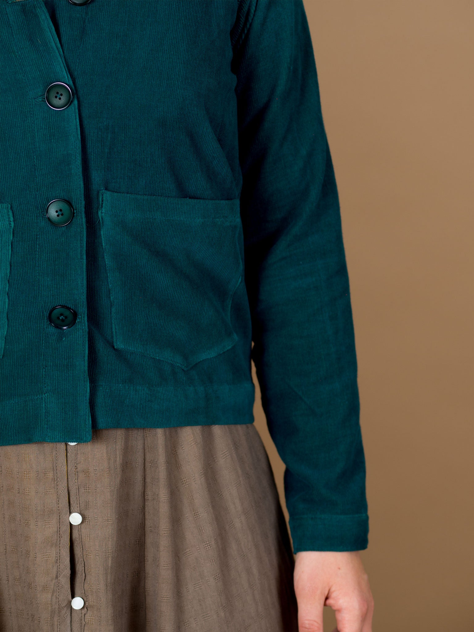 Boxwood Jacket in Evergreen Corduroy