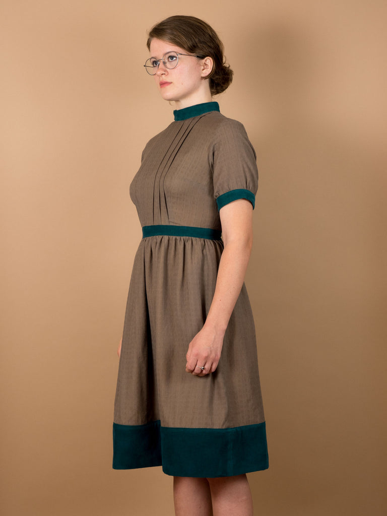 Greta Dress in Mocha Khadi