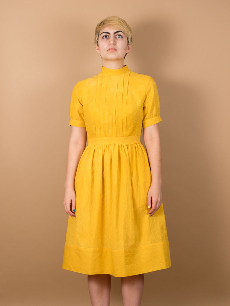 Greta Dress in Saffron Dot