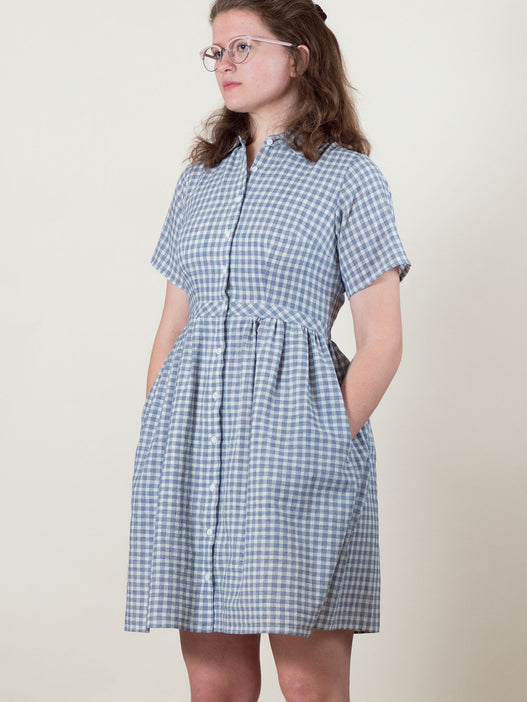 Picnic Dress in Navy Check