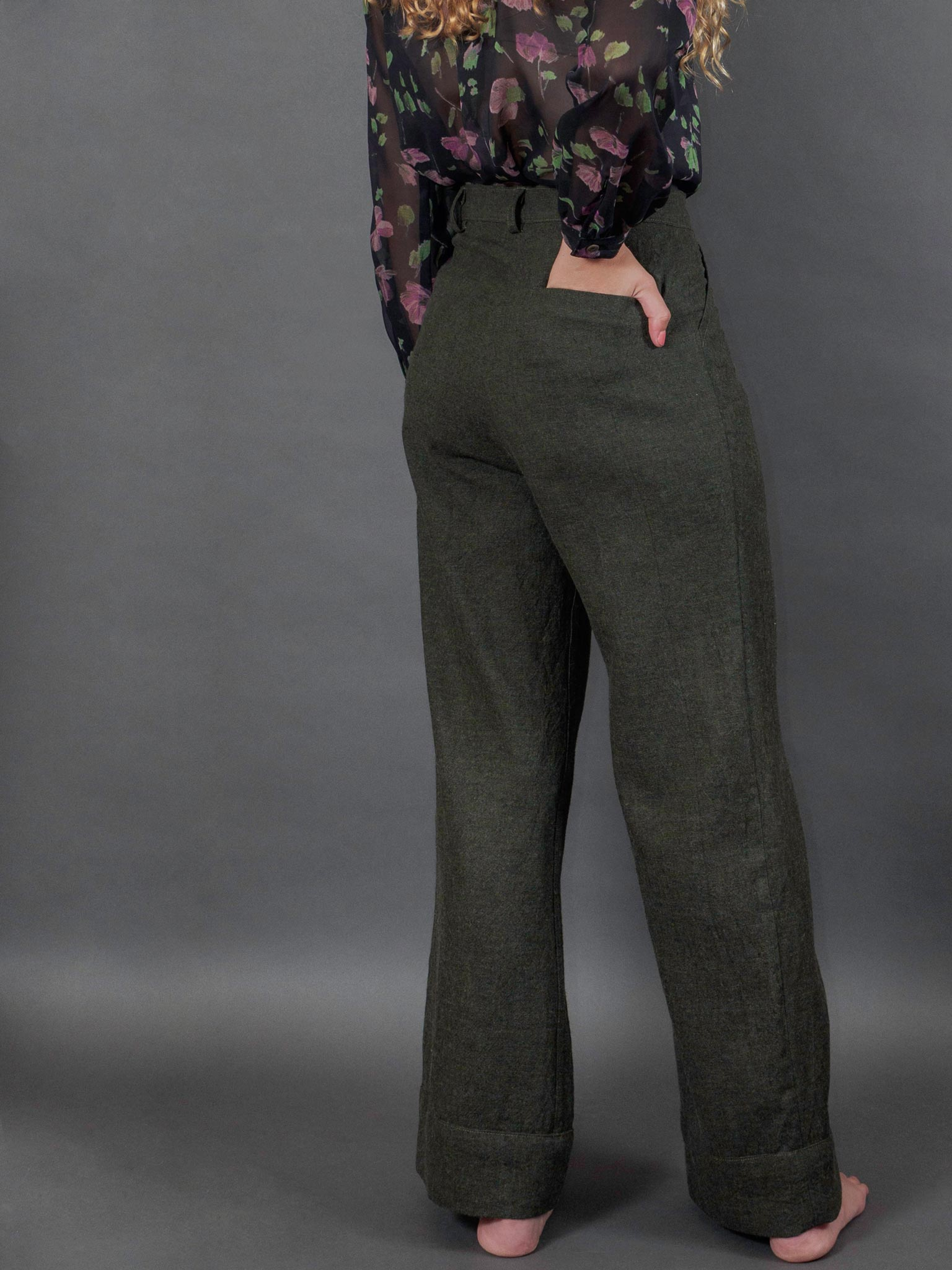 Aurora Pants in Antique Moss
