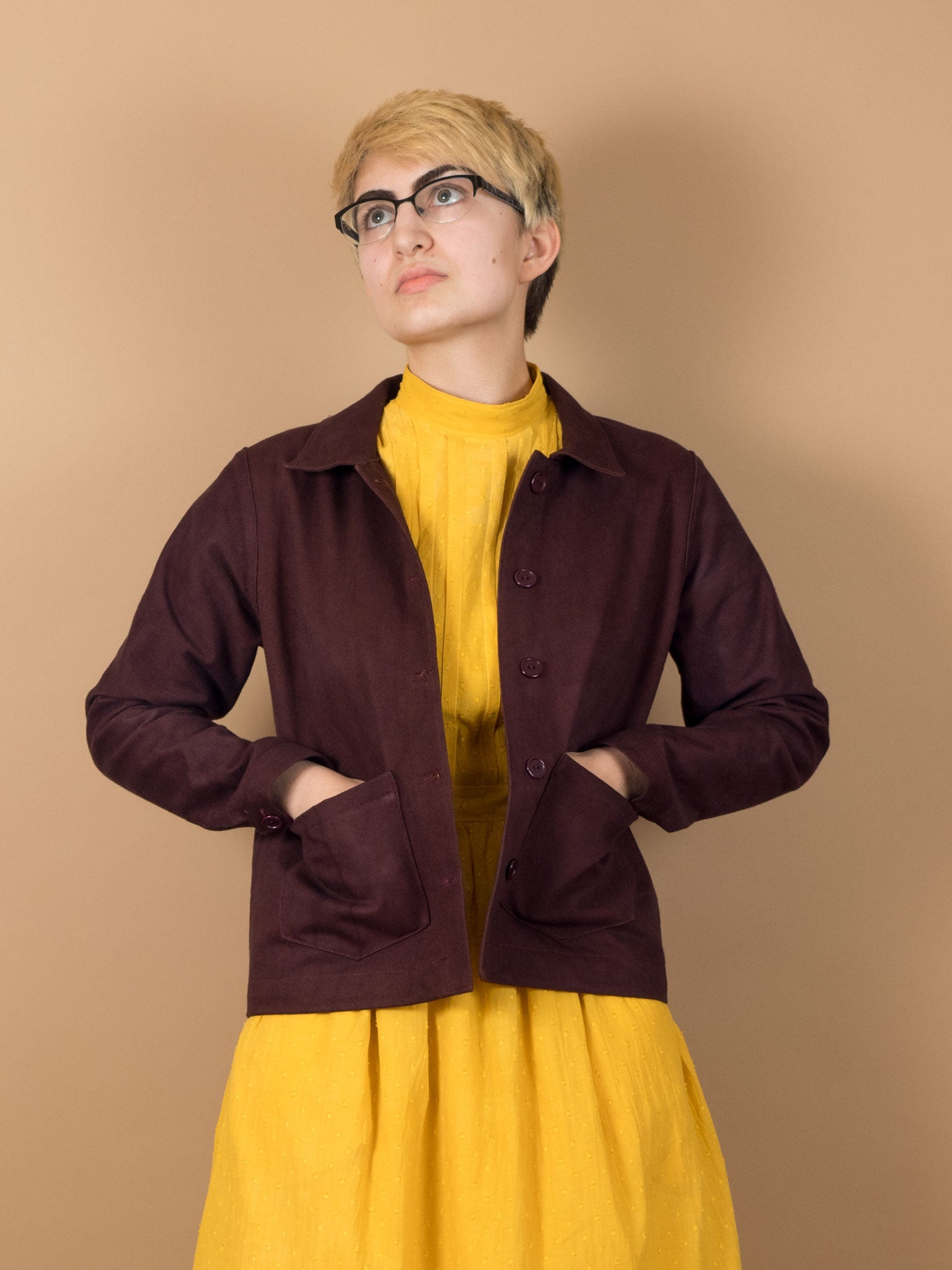 Boxwood Jacket in Eggplant Denim