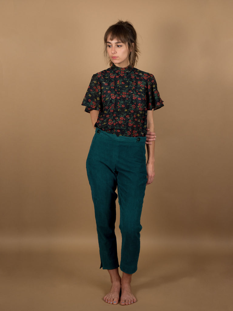 Caspar Pants in Evergreen Corduroy