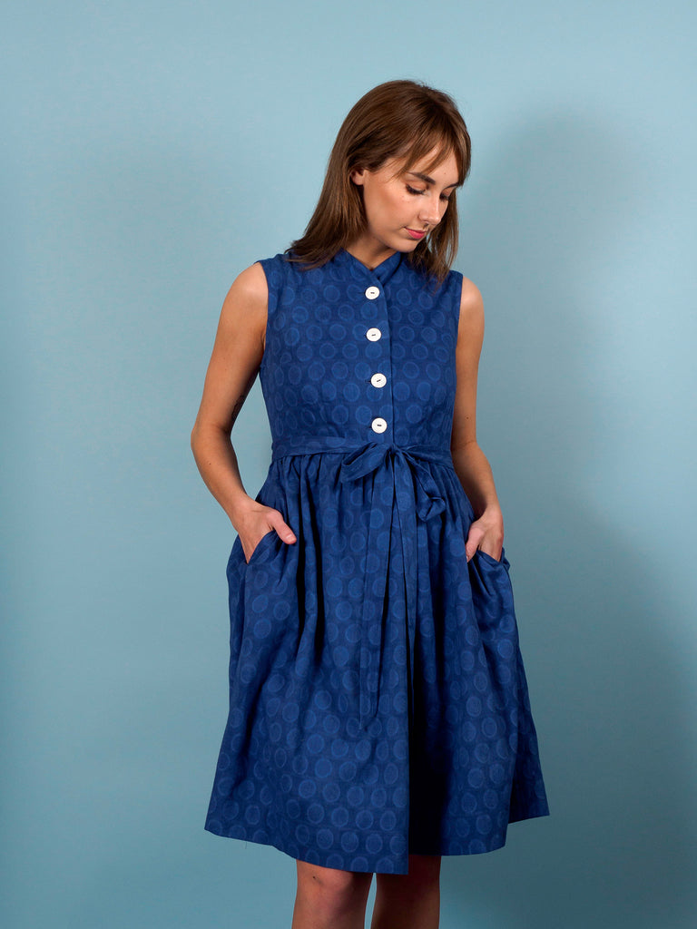 Finch Dress in Lazuli Dot